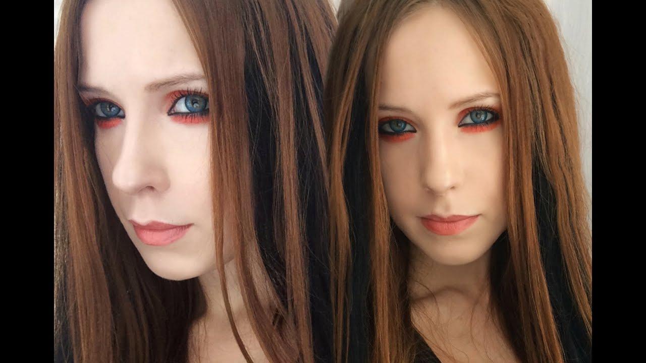 Avril Lavigne Tutorial Makeup Orange Eyes Makeup Hd Youtube