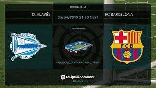 Calentamiento D. Alavés vs FC Barcelona