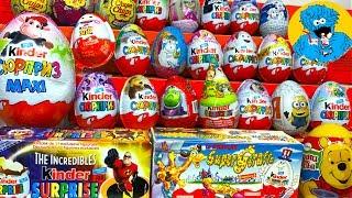 30 Кіндер Сюрпризів,Unboxing Kinder Surprise Суперсімейка,Тачки,Бридкий Я 3,Фиксики,Маша і Ведмідь