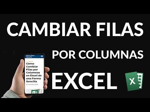 Cómo Cambiar Filas por Columnas en Excel de una Forma Sencilla