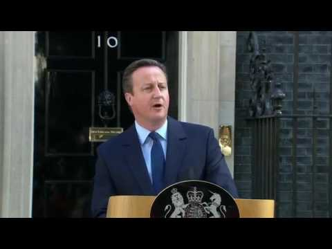 David Cameron RESIGNS as Prime Minister of the UK - #Brexit