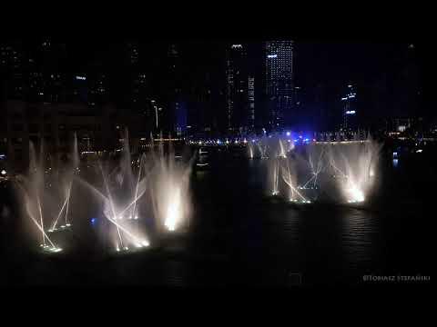 The Dubai Fountain  نافورة دبي  2018 / Michael Jackson – Thriller