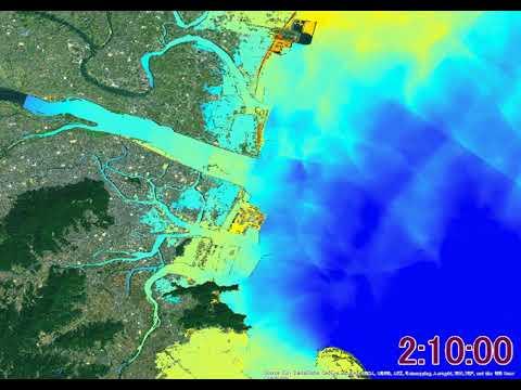 【南海トラフ巨大地震】津波シミュレーション 徳島市