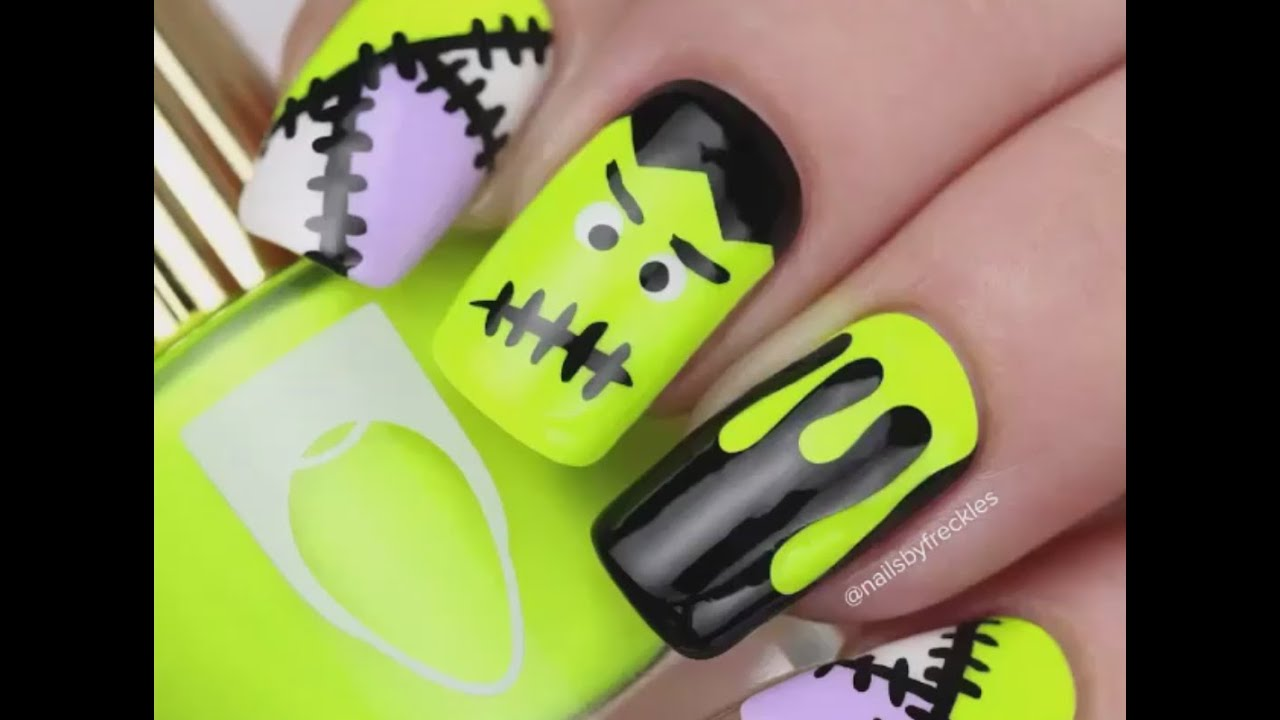 Top 10 Halloween Nail Art Designs 2015 Youtube