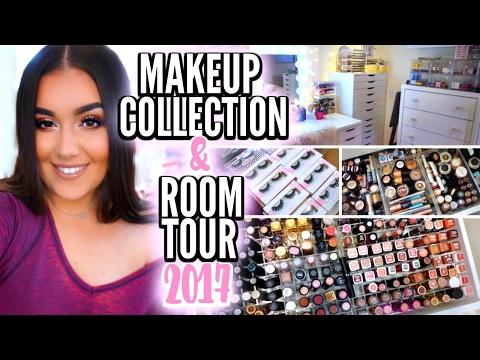 MAKEUP COLLECTION & STORAGE 2017 | Beauty Room Tour ♡ Deanna Borocz