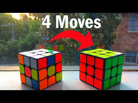 How To Solve A Rubik's Cube In 4 Moves!