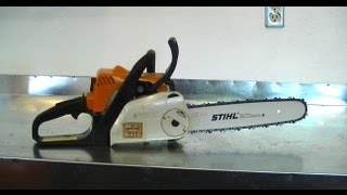 How To Install A More Robust Bar & Chain On A Stihl Ms180, 170, 018, 017 Chainsaw