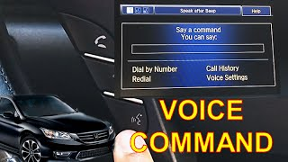 HOW TO USE VOICE COMMAND (9th GEN Honda Accord)