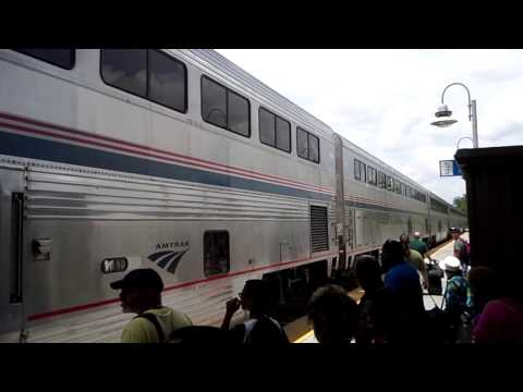 City of New Orleans Amtrak train arrival