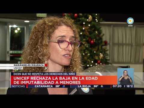 TV Pública Noticias - Unicef rechaza posible baja en la edad de imputabilidad