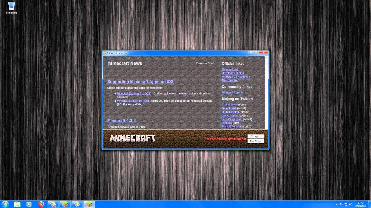 Einloggen Bei Minecraft Geht Nicht YouTube - Minecraft offline spielen geht nicht