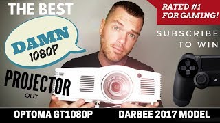 best 1080p Gaming Projector  Optoma GT1080 Darbee 2017 Review