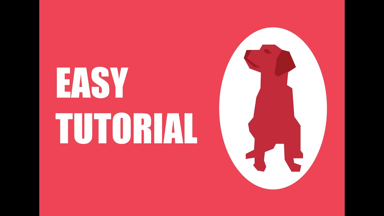 How to draw a dog in adobe illustrator youtube how to draw a dog in adobe illustrator ccuart Images