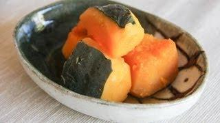 Kabocha No Nimono (simmered Pumpkin) Recipe - Japanese Cooking 101