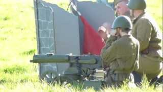 Pickering 1940's ww2 wartime weekend 2012 russian maxim machine gun test firing