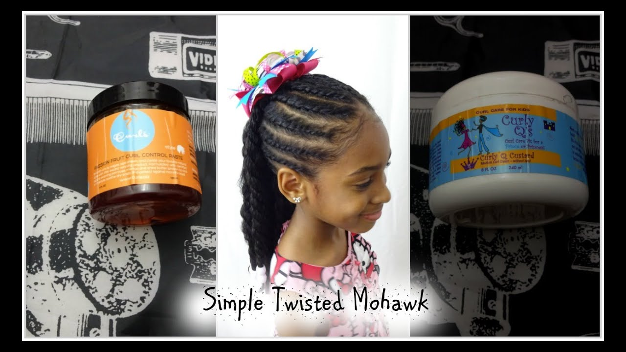 NATURAL HAIRSTYLE FOR KIDS/ SIMPLE TWISTED MOHAWK- PART 2