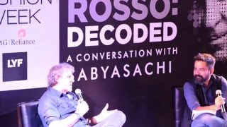 Renzo Rosso in conversation with Sabyasachi - Lakme Fashion Week