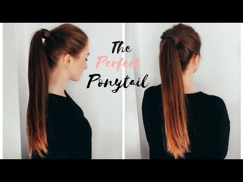 HOW TO DO THE PERFECT PONYTAIL - High Ponytail Tutorial thumbnail