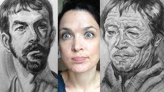Watts Atelier Online Head Drawing Phase 4 - Week 56 - Long Portraits