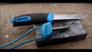 Испытание огнива ножа Mora