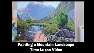 Mt Talbot Landscape Painting - Time Lapse Video