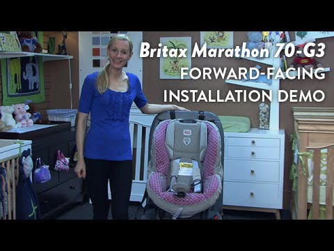 britax marathon 70 g3 convertible car seat forward facing installation demo cloudmom youtube. Black Bedroom Furniture Sets. Home Design Ideas