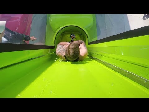 We Rode The New Drop Slide At Adventure Island Water Park In Tampa Florida!!