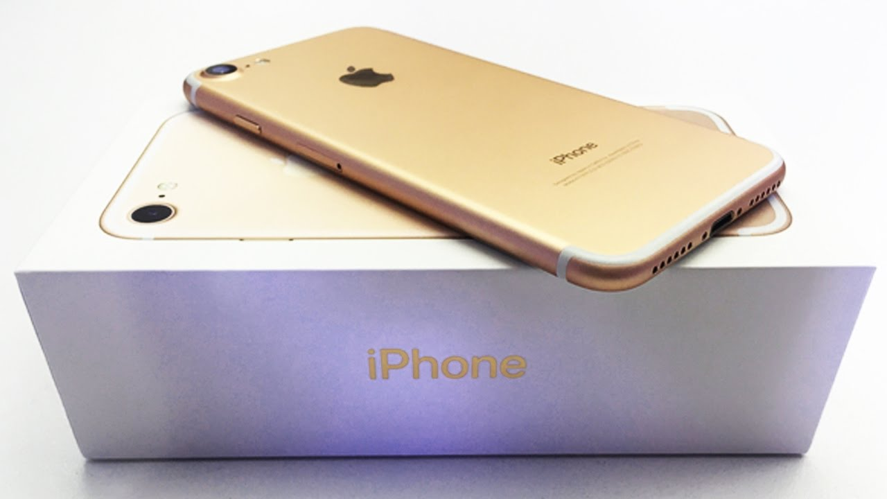 apple iphone 7 plus unboxing iphone 7 plus gold unboxing. Black Bedroom Furniture Sets. Home Design Ideas