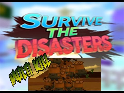 [Roblox: Survive The Disaster 2]  MULTI MINION MEGA KILL!