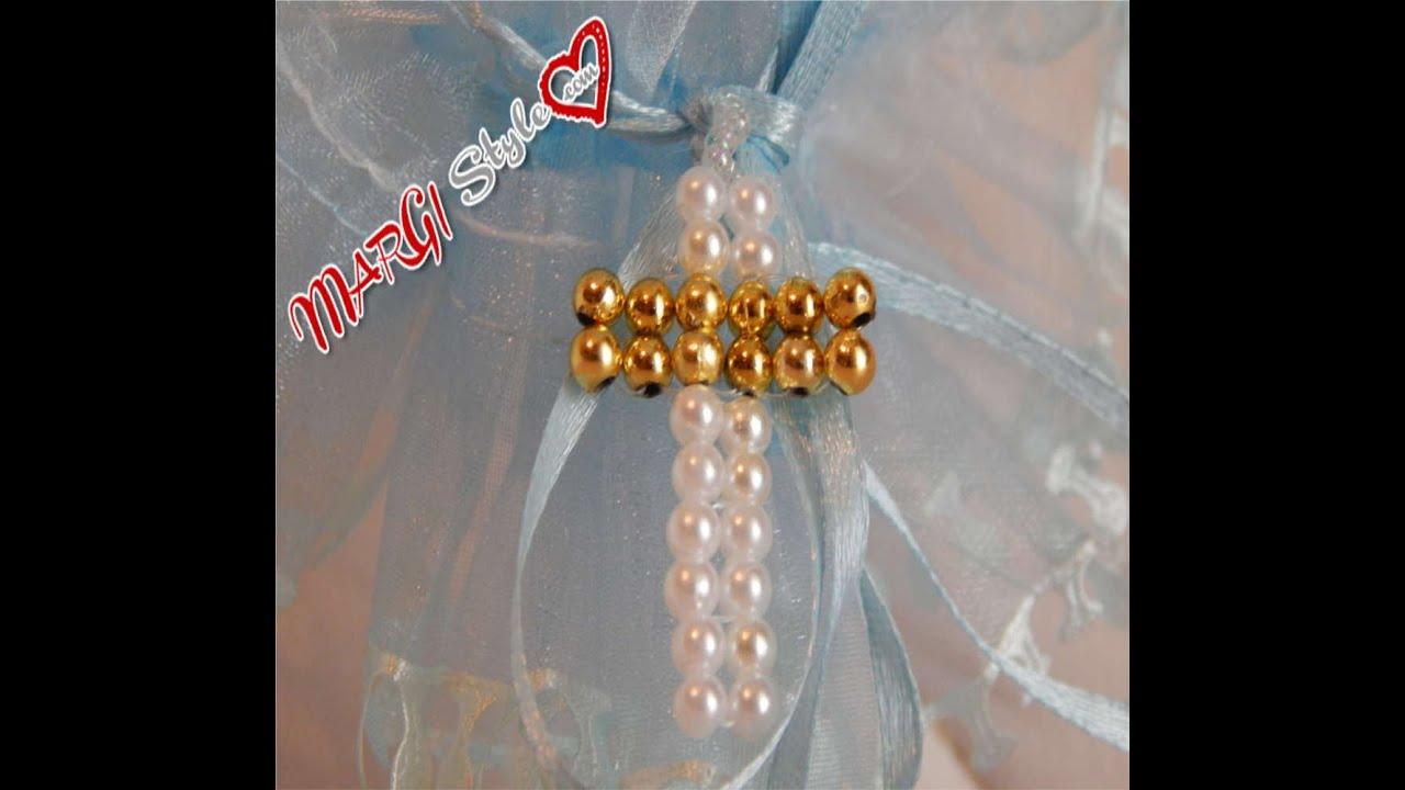 abbastanza Come fare una croce con perle semplice per principianti - YouTube UZ06