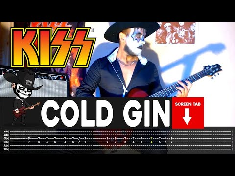 Kiss - Cold Gin (Guitar Cover by Masuka W/Tab)