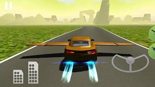 Flying Muscle Car Simulator 3D - Best Android Gameplay HD