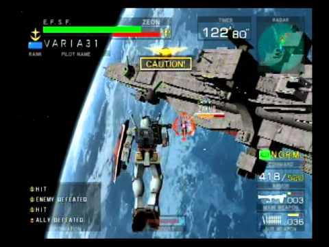 Mobile Suit Gundam: Federation vs. Zeon Gameplay