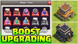 UPGRADE TH8 MAX TO TH9 BY USING ALL MAGIC ITEMS I CLASH OF CLANS I 2018