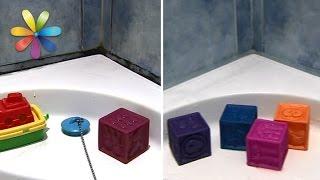 видео Как избавиться от грибка в ванной (на плитке, швах, потолке) народными и химическими средствами