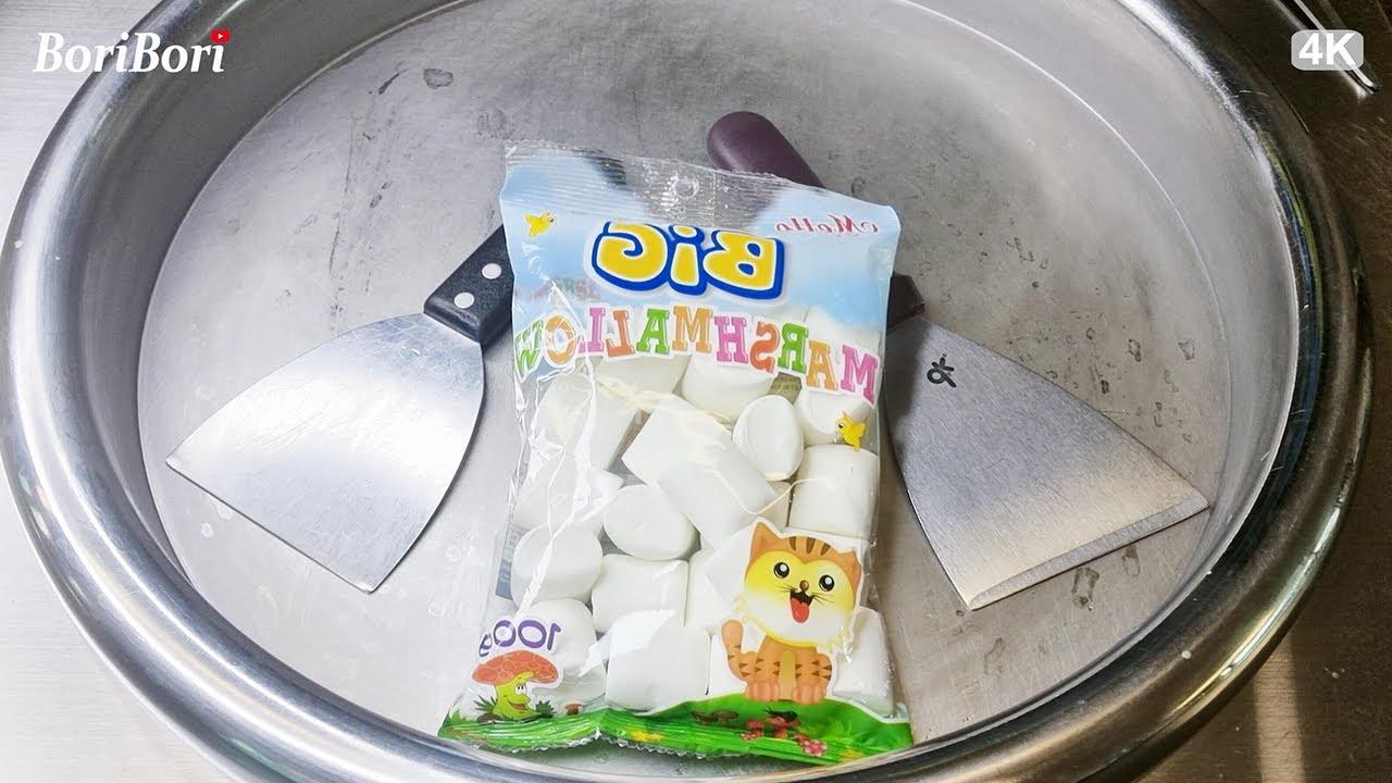 입속 샤르르 마시멜로우 철판아이스크림(Marshmallow ice cream rolls)