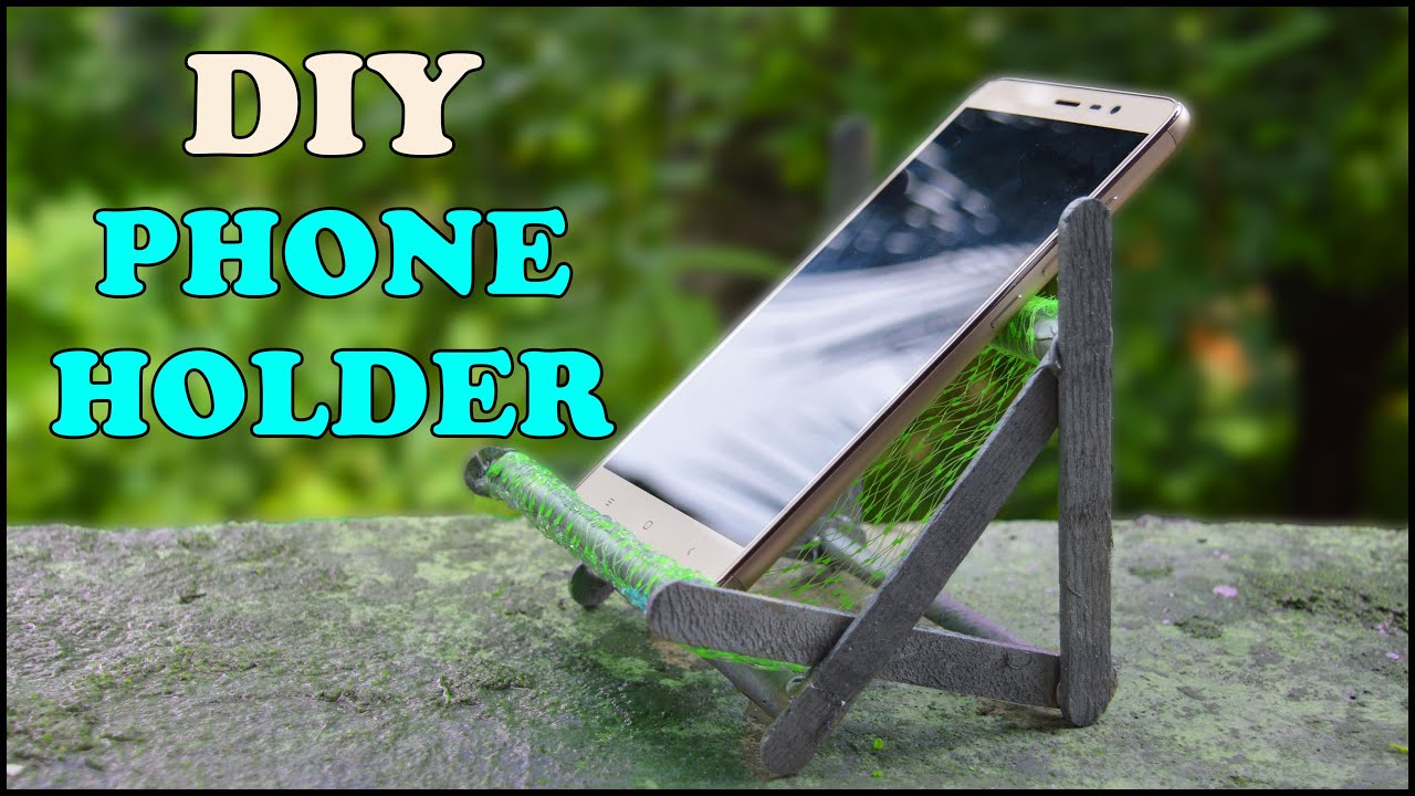 Make A Mobile Phone Holder Stand From Ice Cream Sticks