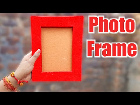 How To Make Photo Frame With Cardboard