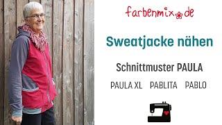 Sweatjacke nähen mit Paula von farbenmix