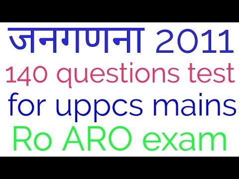 140 question test of Census 2011 for uppsc mains exam  lower pcs  Ro ARO exam  mppsc exam  ukpsc