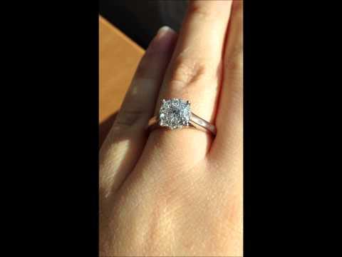 Fred Meyer Jewelers 1/2 ct. tw. 1/3 ct. Round Center Destiny Diamond Engagement Ring 14K White Gold