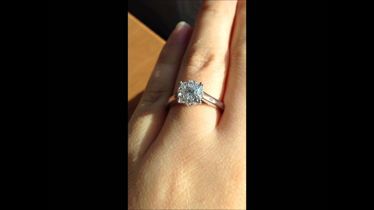 Fred Meyer Jewelers 1 2 Ct Tw 1 3 Ct Round Center Destiny Diamond Engagement Ring 14k White Gold Youtube