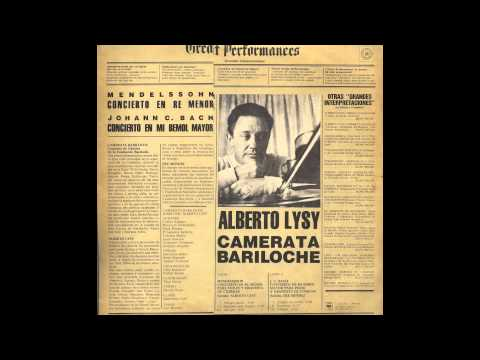 Mendelssohn Violin Concerto in d minor. Alberto Lysy/Camerata Bariloche