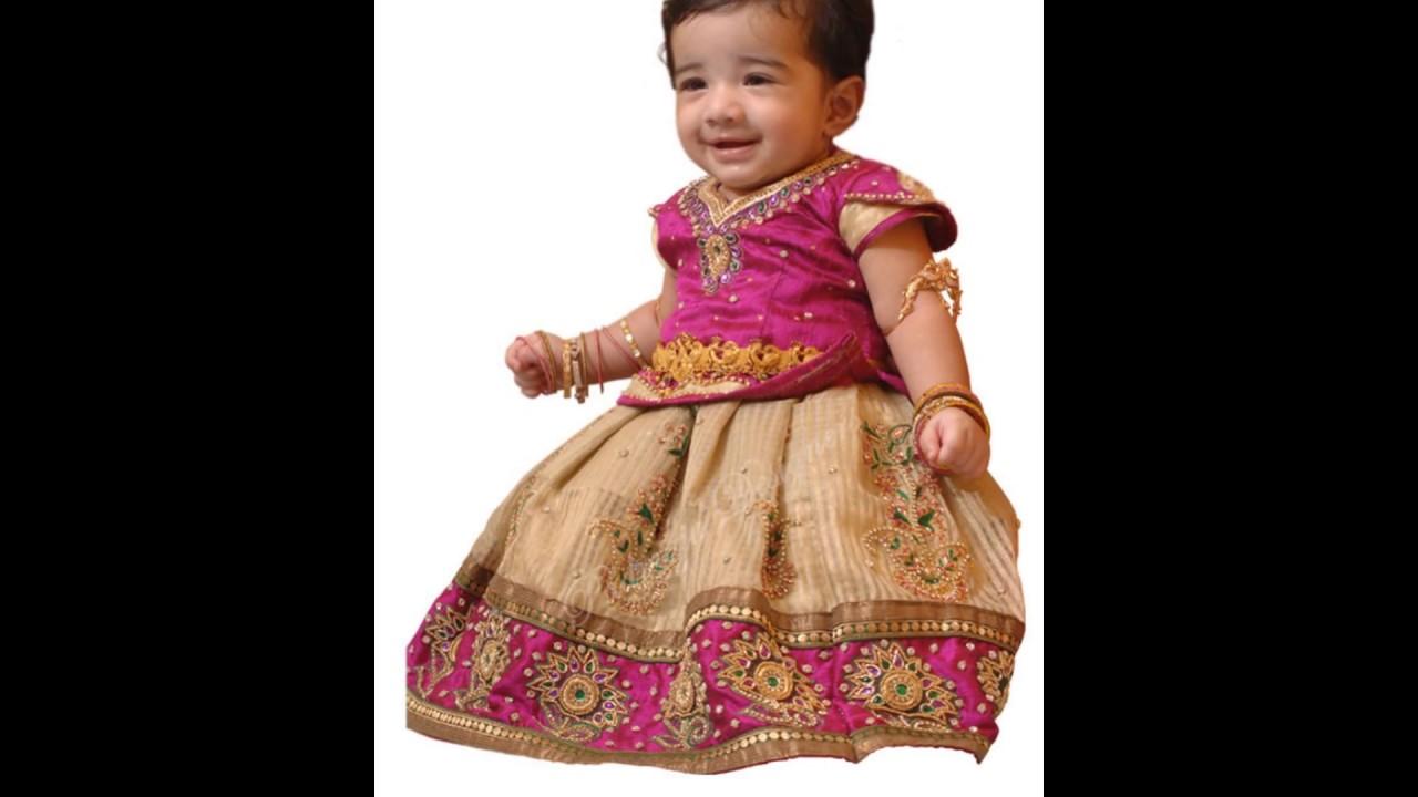 7f8134ec84e7 KIDS :::: PARTY WEAR PATTU PAVADAI DRESS. - YouTube