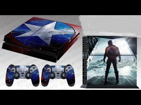 Colocando SKIN no PS4 Capitão America...top demais...