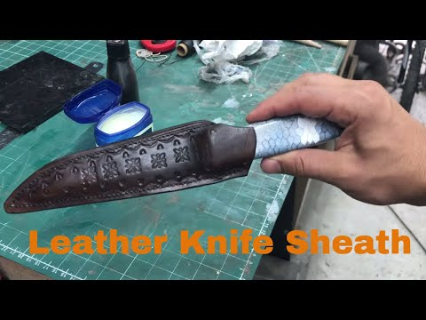 Making a Leather Knife Sheath for First Time