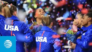 US Women's Olympic Gymnastics Team Shares the Moment they were Selected for the Olympics | AT&T