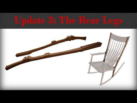 The Rear Legs - The Wood Whisperer Guild Sculpted Rocker