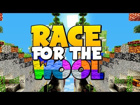 A BATTLE OF THE SHEEP !! // Race For The Wool : Minecraft
