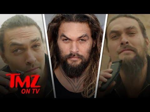 Jason Mamoa SHAVES His Beard Off  TMZ TV